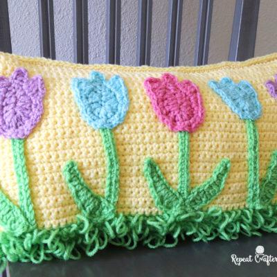 Crochet Tulip Pillow