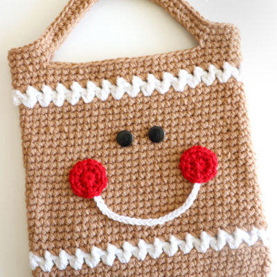 Crochet Gingerbread Tote Bag