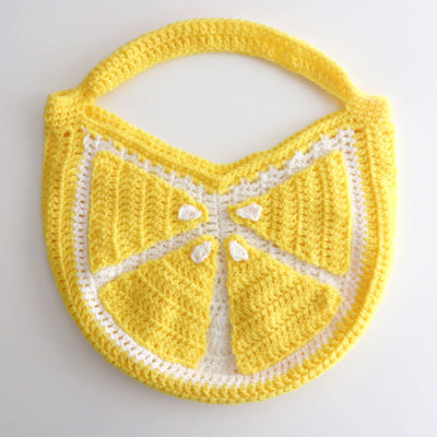 Crochet Lemon Tote Bag