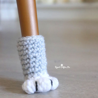 Crochet Cat Paw Chair Socks