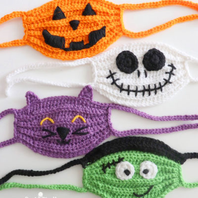 Halloween Crochet Face Masks