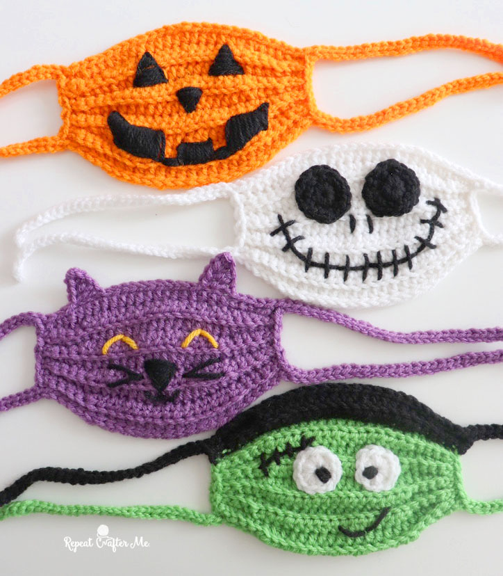 Halloween Crochet 2020 Halloween Crochet Face Masks   Repeat Crafter Me