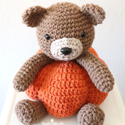 Crochet Pumpkin Bear
