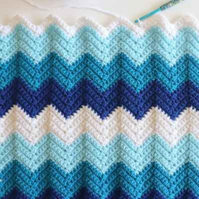 Easy Crochet Chevron Blanket
