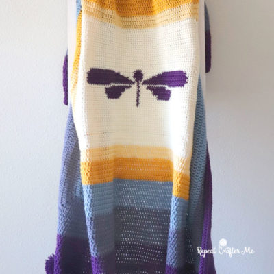 Dragonfly Crochet Blanket