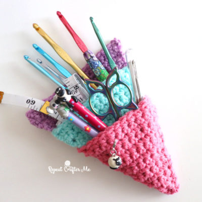 Crochet Pocket Storage Triangle