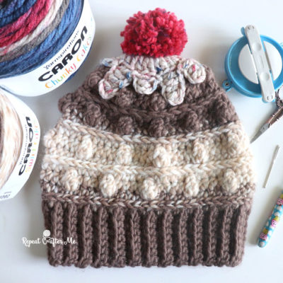 Crochet Icing on the Cupcake Hat