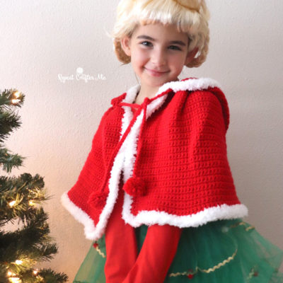 Cindy Lou Who Crochet Cape and Costume