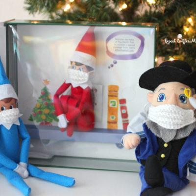 Elf on the Shelf Crochet Face Mask