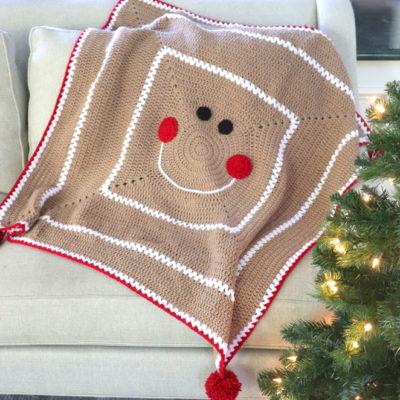 Crochet Gingerbread Blanket