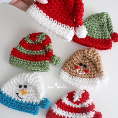 Crochet Mini Holiday Hats