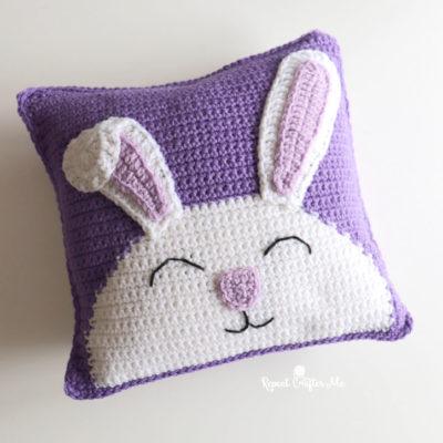 Crochet Bunny Pillow