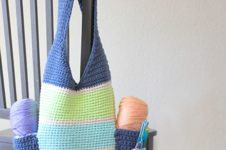 Crochet Tall Tote Bag
