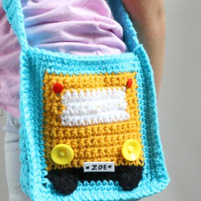 Crochet Crossbody Bus Bag
