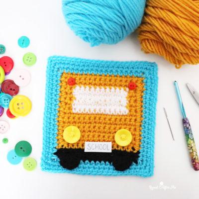 Crochet School Bus Granny Square