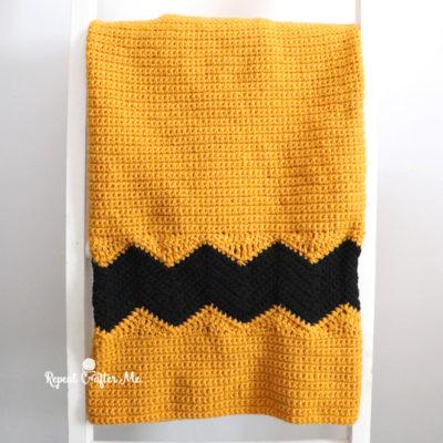 Charlie Brown Chevron Crochet Blanket