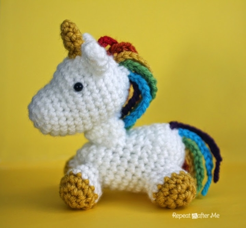 Crochet rainbow unicorn amigurumi free patterns – Artofit | 445x480