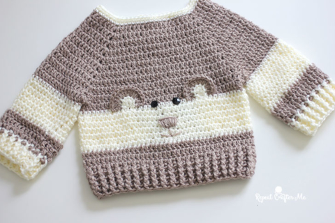 Crochet Character Sweater And Yarnspirations Baby S Day Out