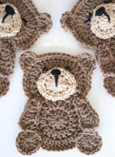 Crochet teddy bear Bearnando - Ecological Toy - DucknRabbit | 652x480